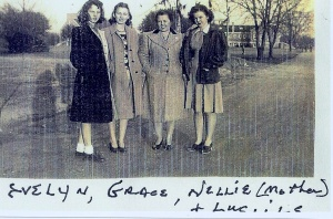 Nellie Quick with her three daughters.