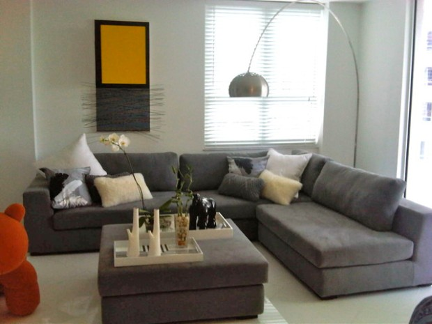 Modern Living Room With Grey Sectional