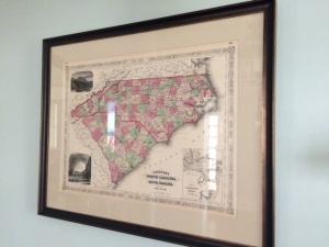 NC SC map