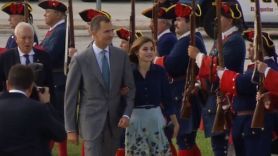 King and Queen of Spain visiting St. Augustine in September, 2015.